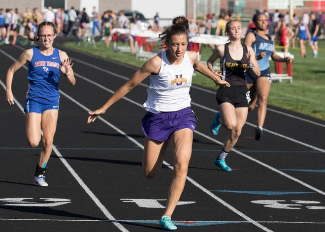 Unioto track and field's Paris DeBord who won the SVC title in 200-meter dash with a time of 27.53 and the 100-meter dash with a time of 13.41 last week.