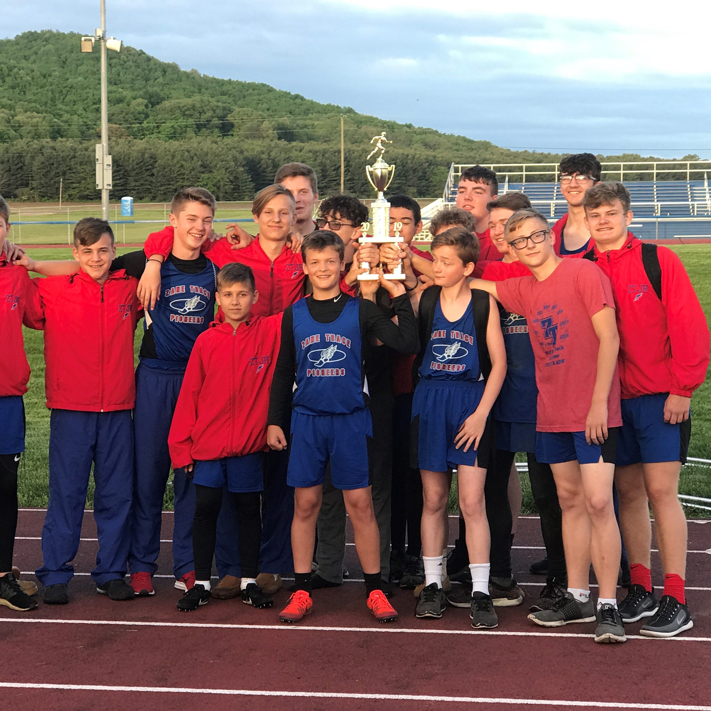 Zane Trace MS boys track and field wins SVC MS Championship for 10th straight season