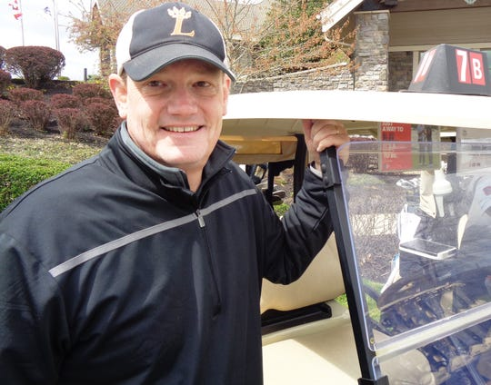 Mark Wilhoite, neighbor and longtime friend of the Dombroski family, was ready to play in the Scramble Against Cancer golf event to honor John Dombroski and fight cancer.