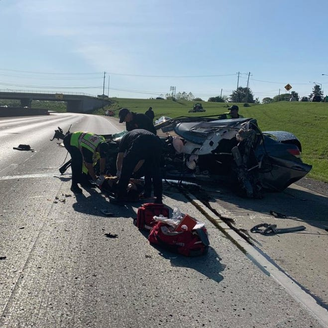 Crash has I-75 north closed in Fort Mitchell, one hospitalized