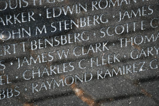 U.S. Army Sgt. Charles Fleek's name on the Vietnam Memorial in Washington, D.C. The Petersburg, Kentucky resident who died May 27, 1969, was posthumously awarded the Medal of Honor for his valorous effort to throw his body onto a grenade to save lives.