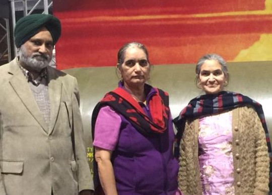 From left are Hakiakat Singh, Parmjit Kaur and Amarjit Kaur, three of four persons shot and killed in a West Chester apartment April 28.