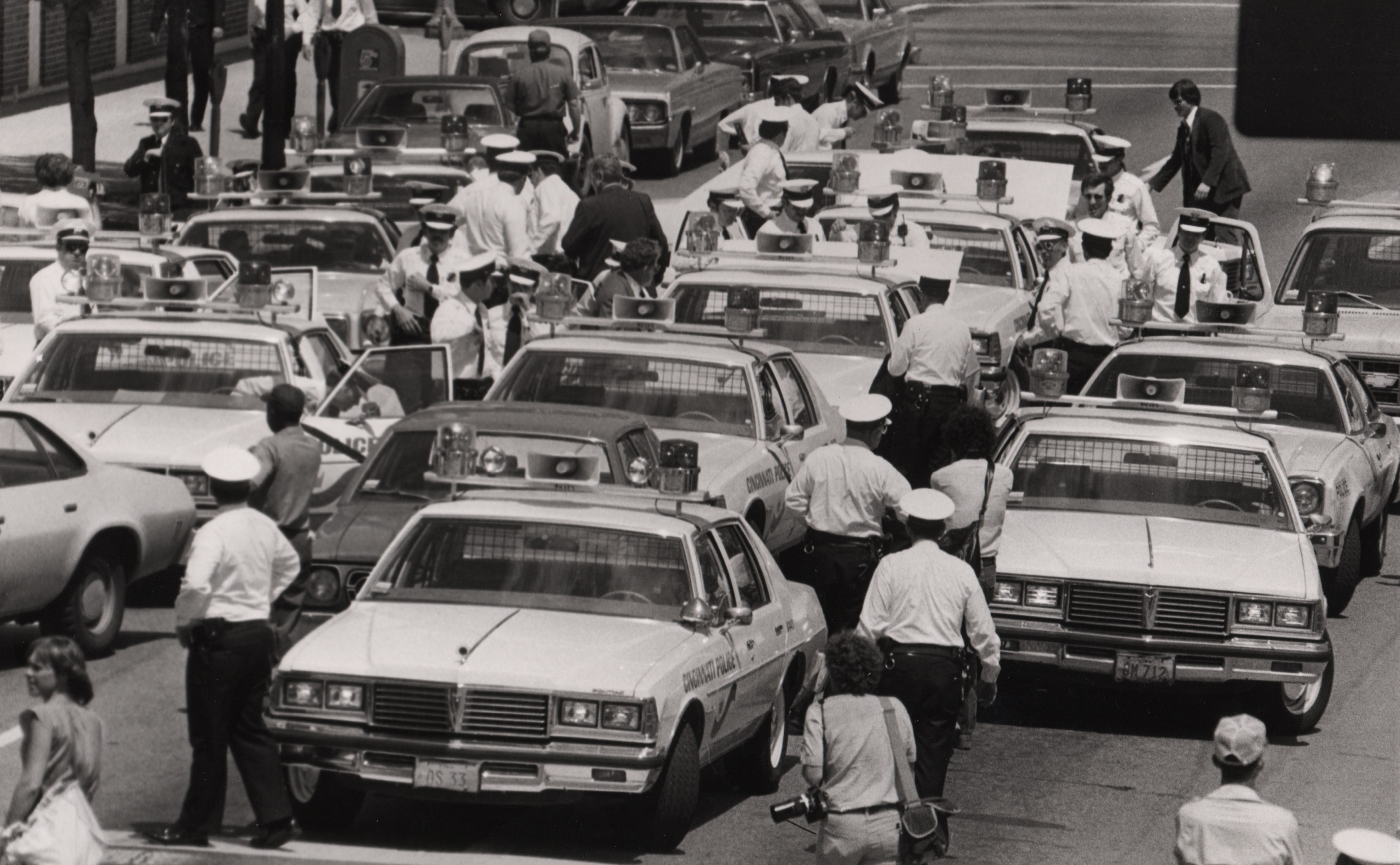 On May 8, 1979, police parked their cruisers at City Hall, threw their keys in a pile and walked away. They were striking for bulletproof vests, more powerful guns and other protections after four officers were killed in eight months.