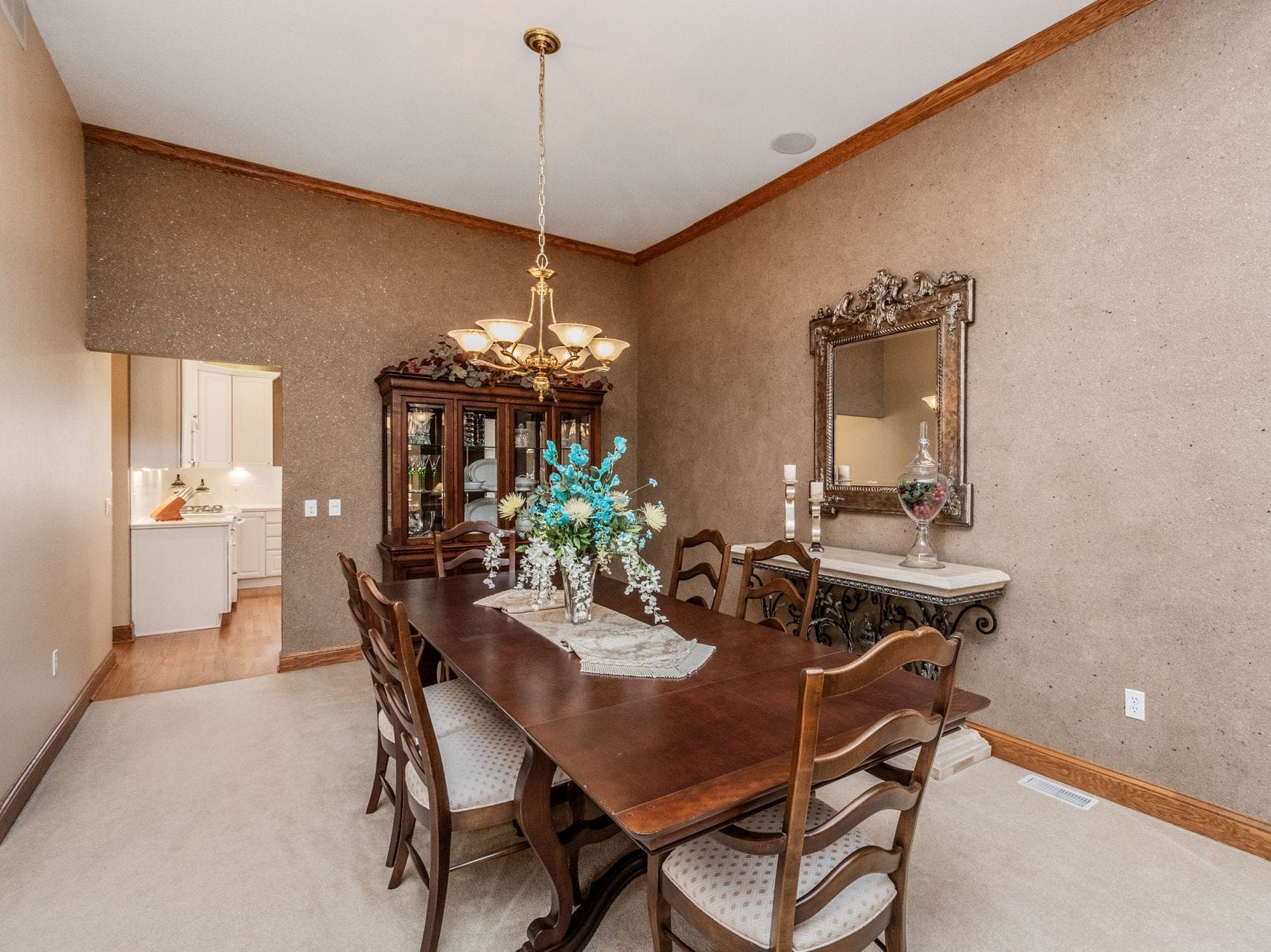 This executive walkout ranch in Johnston has 4,800 square feet of living space.