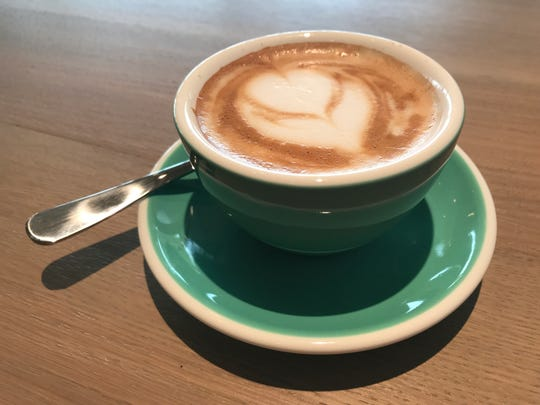 A cappuccino from St. Kilda Surf & Turf.