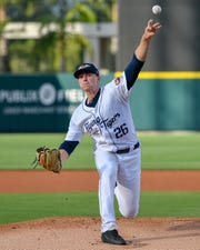Detroit Tigers prospect Tarik Skubal, shown pitching for Lakeland in April 2019, was drafted by the Tigers in the ninth round of the 2018 MLB draft.