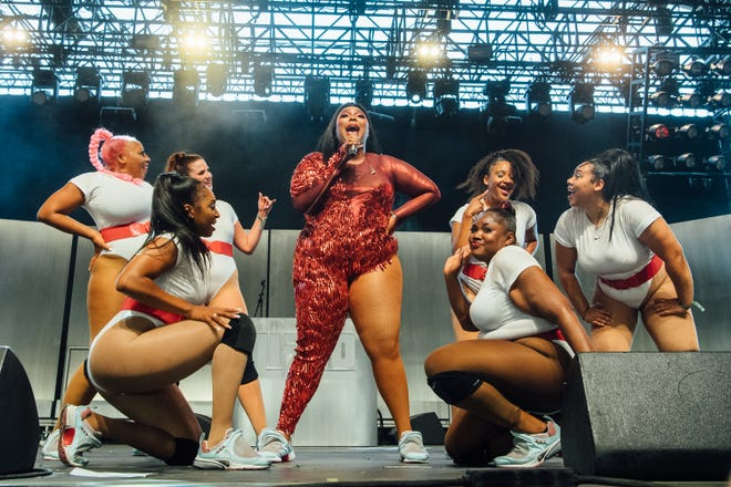 Lizzo performs onstage at the 2019 Coachella festival on April 21, 2019, in Indio, Calif.
