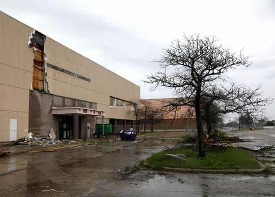 Part of the former Summit Place Mall is undergoing demolition to make way for the Oakland County Business Center at the in Waterford, Michigan on Tuesday, May 7, 2019.
