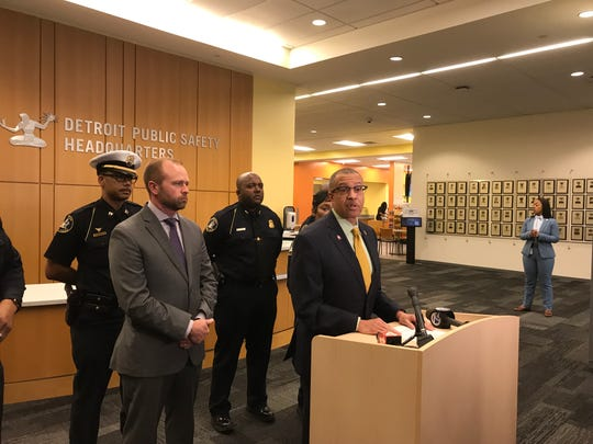 Detroit Police Chief James Craig says police have arrested one and seek three others in the Monday, May 6, 2019, shooting in Greektown.