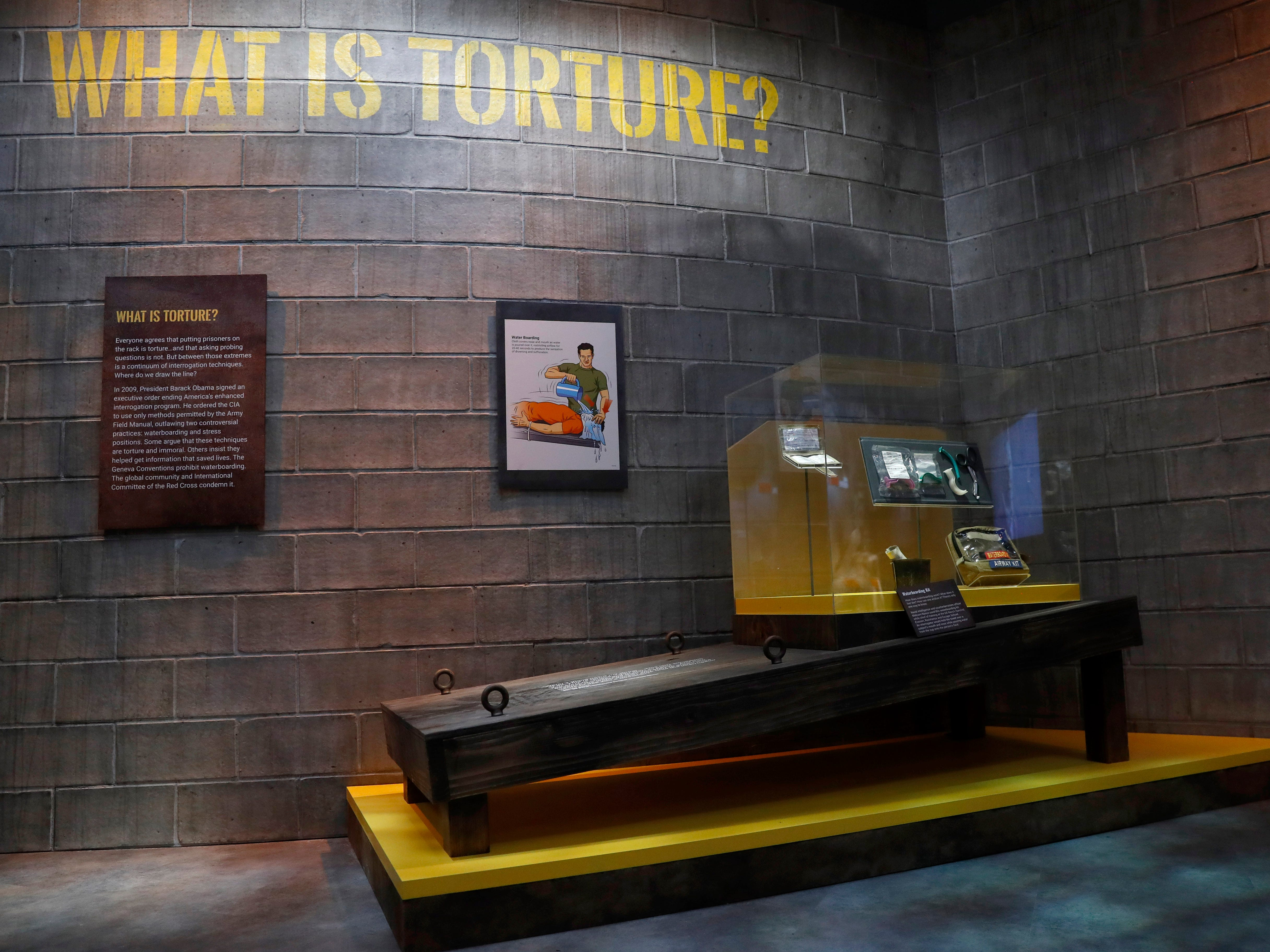 An exhibit on torture includes a section on waterboarding in the new International Spy Museum in Washington, D.C. Take a back seat James Bond, because it's the stories of real-life spies that take center stage at the expanded museum, opening in its new building on May 12, 2019.