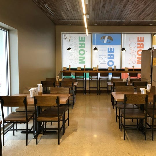 The new dining area at Noble Fish sushi bar.