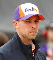 Denny Hamlin suffered carbon-monoxide poisoning during Monday's race.