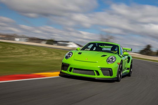 The 520-horse Porsche 911 GT3 RS does not have the grunt of its turbocharged, GT2 brother, but its 9,000 RPM, normally-aspirated engine is a joy to rev.