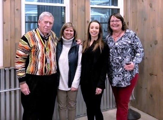 New officers of the New York Wine Industry Association are, from left, Ted Marks, Kim Aliperti, Erica Paolicelli and Tina Hazlitt.
