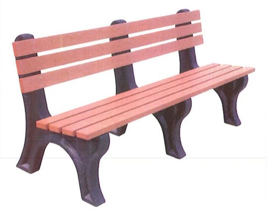A rendering of the benches, from Norwood Commercial Furniture, that the Rotary Club of Cape Coral will donate to the city.