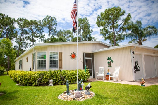 The home of Bob Masson, 71 a Marine Vietnam War vet is decorated with many patriotic artifacts at the Del Tura Golf & Country Club in North Fort Myers Tuesday, May 7, 2019.