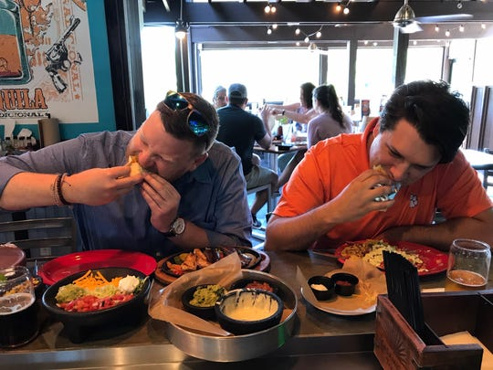 Paul Ryll (left) and Rion Mimms, will open Tipsy Taco's first franchise location in Clemson this year.