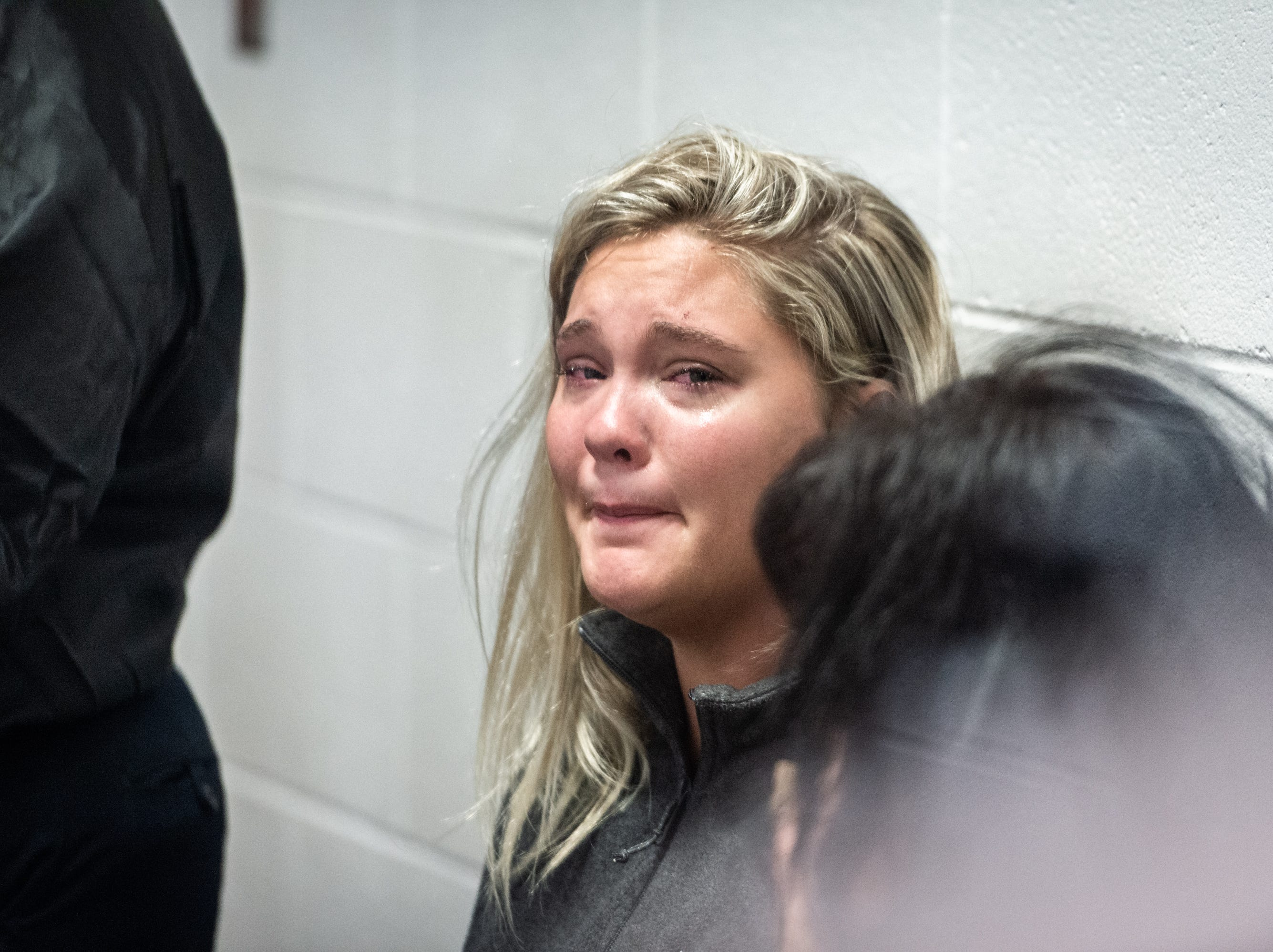 Savannah Hutchinson, 17, at the Greenville County Detention Center for her bond hearing Tuesday, May 7, 2019, following a car accident near Honea Path around 2:50 Tuesday morning in which a passenger in her car, Dayton Gayle Sellers, 18, of Donalds was killed and and another 18-year-old victim of Honea Path was hospitalized. Hutchinson has been charged with felony DUI resulting in death. Her bond was set at $15,000 and she is not allowed to operate a motor vehicle. She will be required to wear a continuous alcohol monitoring device.