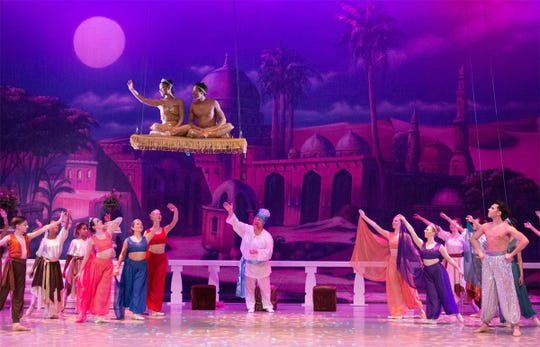 Take a magic carpet ride with an enchanting performance of 'Alladin' at the Preston Arts Center.