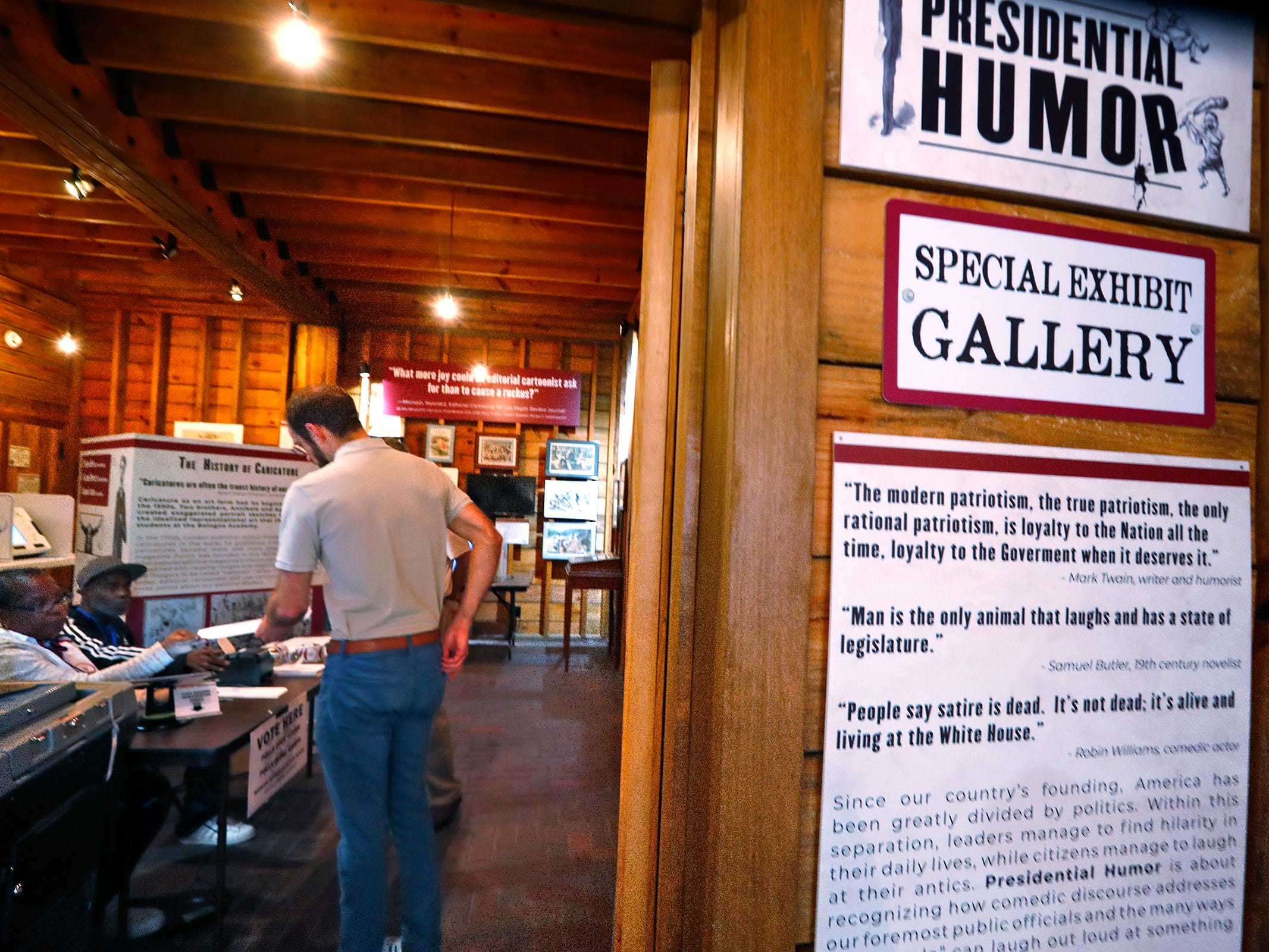 People vote at the President Benjamin Harrison Presidential Site voting center, Tuesday, May 7, 2019.  As a center, anyone who lives in Marion County can vote at this location.