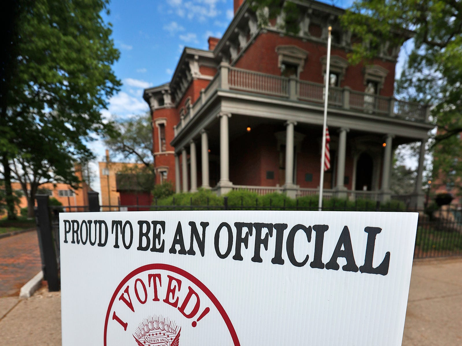 President Benjamin Harrison Presidential Site is a voting center, Tuesday, May 7, 2019.  As a center, anyone who lives in Marion County can vote here.