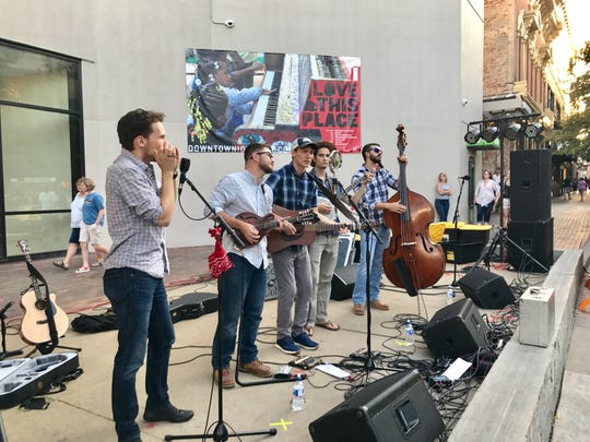 During the 2017 Friday Night Concert Series, Flash in a Pan performed on the ped mall.