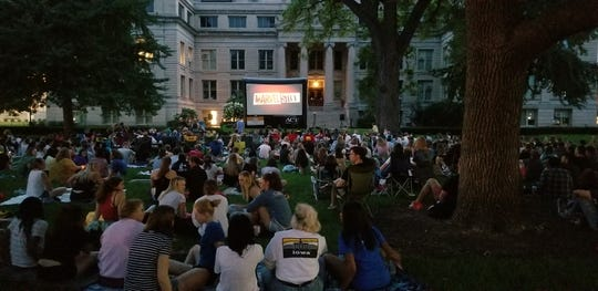 """In summer of 2018, a crowd gathered on the University of Iowa pentacrest to watch """"Black Panther,"""" the final film in that years Free Movie Series."""