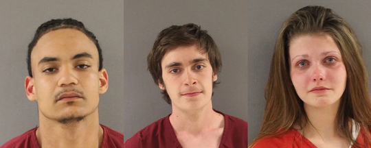 Noah E. Priester, left, Nicholas Dantae England, and Kayelin Martin have been charged with attempted first-degree murder in connection with a shooting in Powell.