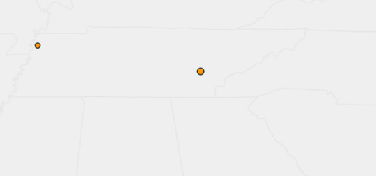 An earthquake was reported May 7, 2019, in Decatur, Tennessee.