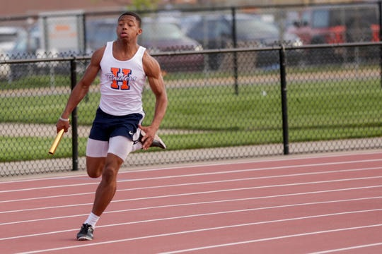 Senior Isaiah Armstrong helped Harrison's 400 relay team place seventh at Friday's IHSAA state finals in Bloomington.
