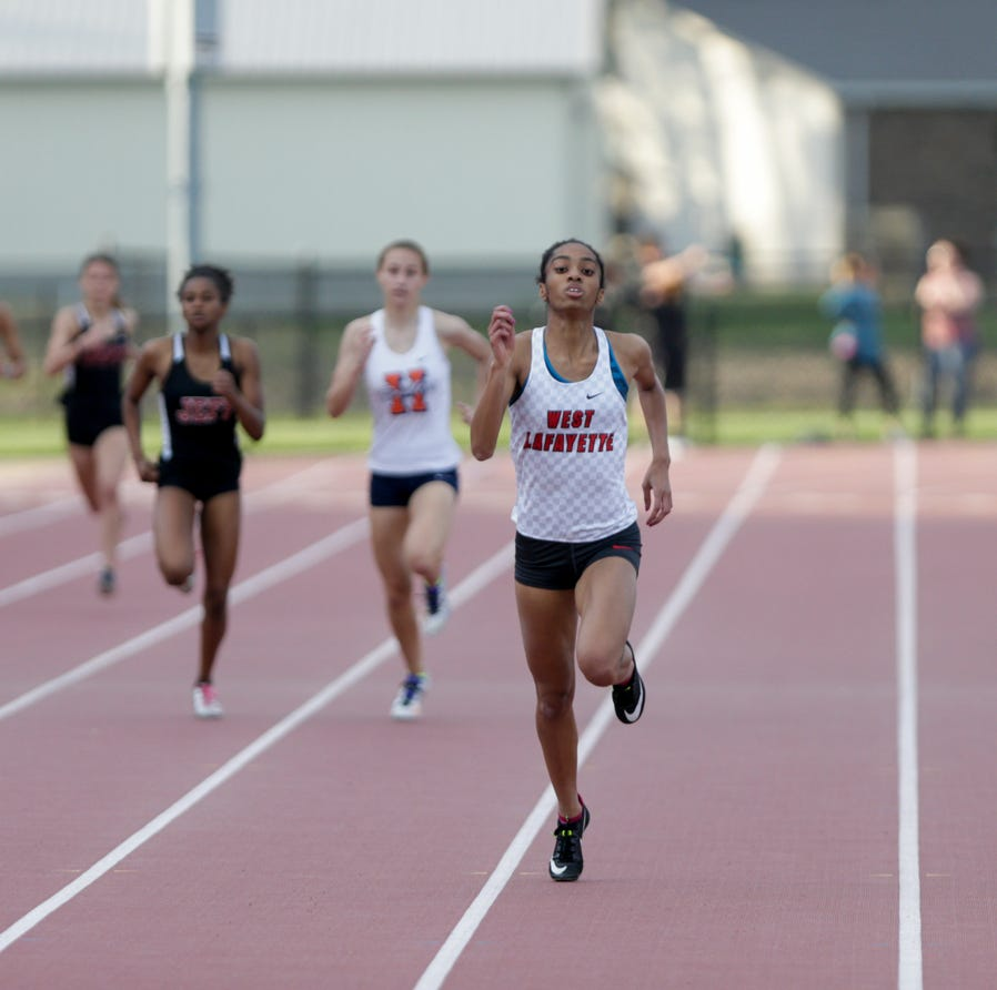 West Lafayette's Lauren Thomas breaks three City/County sprint records
