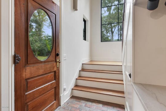 Each of the doors in the home are antique and individual, adding to the already abundant charm