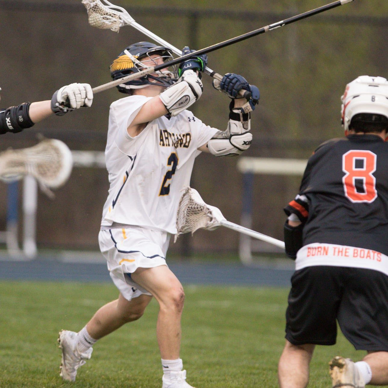 Freshman meshes with 'role model' in Hartland lacrosse win over Brighton