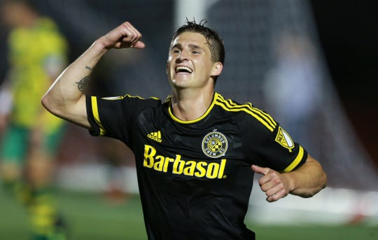Lansing Ignite midfielder Marshall Hollingsworth scored a goal in his only appearance for MLS side Columbus Crew, scoring in the fourth round of the 2016 Lamar Hunt U.S. Open Cup vs. the Tampa Bay Rowdies.