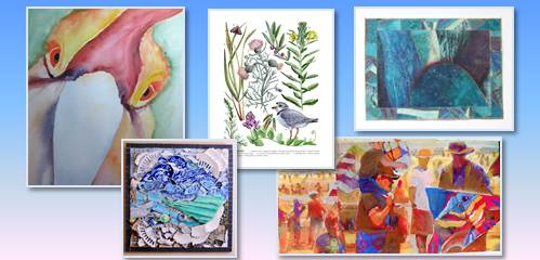 'A sampling of Guild Members Artwork' by Catherine Eggers