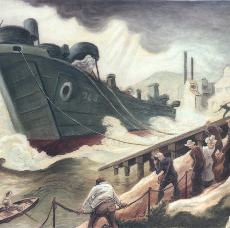 Manitowoc Rahr-West to feature WWII naval works by Thomas Hart Benton | Art Forward