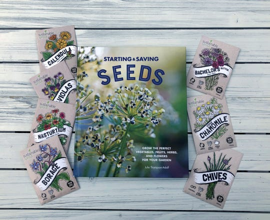 "Sowing seeds directly into your garden saves you space, money and time, says Julie Thompson-Adolf, author of ""Starting & Saving Seeds."""