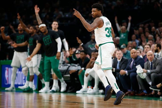 Marcus Smart, who missed the first three games of the series against the Bucks while recovering from an oblique injury, made an immediate impact upon entering Game 4 with a three-pointer, but the Celtics guard missed his next six shots to finish 1 of 7.
