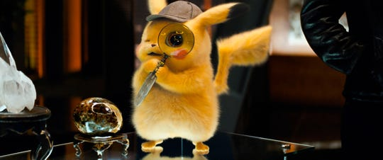 "Ryan Reynolds voices the electric-type Pokemon Pikachu in the live-action movie ""Pokemon: Detective Pikachu."""