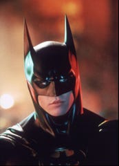 "Val Kilmer puts on the cowl for ""Batman Forever."""