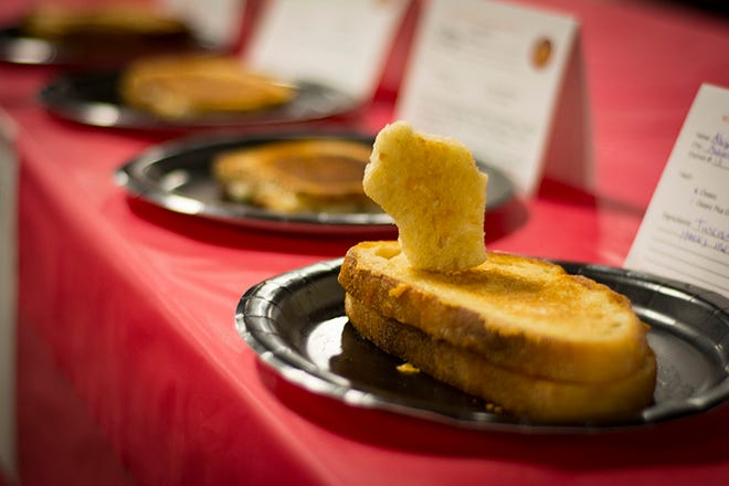 An offering at the Wisconsin Grilled Cheese Championship in Dodgeville.