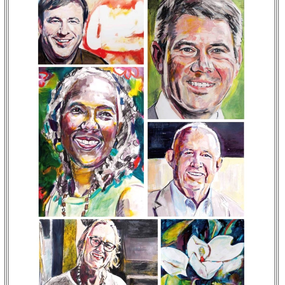 Monroe artist puts unique spin on 2019 Louisiana Legends portraits
