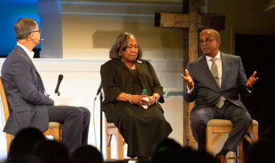 Rev. Anthony Thompson, who lost his wife, and Polly Sheppard, a survivor, talk about the night Dylann Roof shot nine parishioners at Emanuel A.M.E. Church.