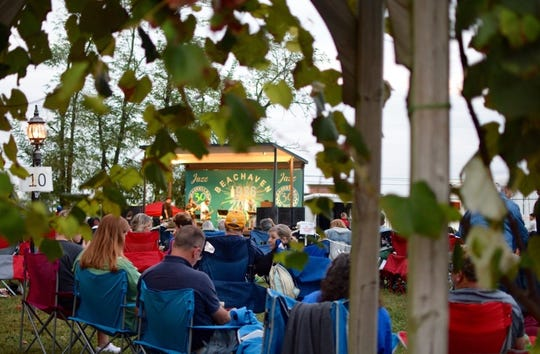 Music lovers enjoy Jazz on the Lawn.