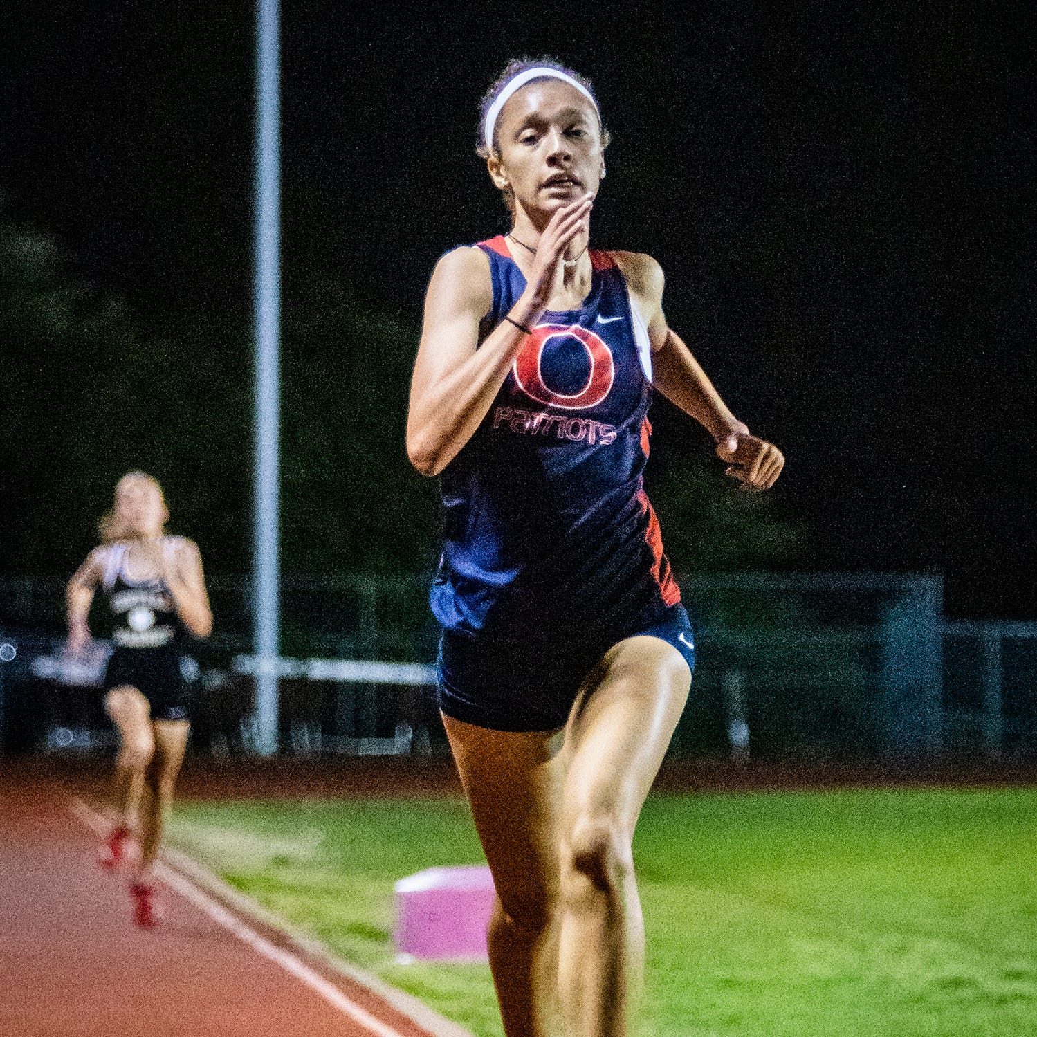 Oakland's Breja Hooks competes in the 1600 meter run. She led the event from start to finish.