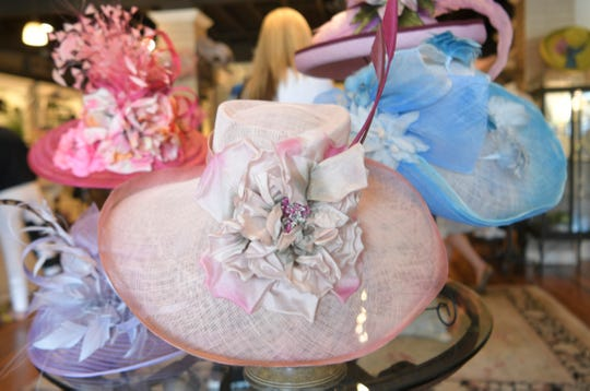 Stacey Rhodes' Brentwood boutique store has a large selection of hats.