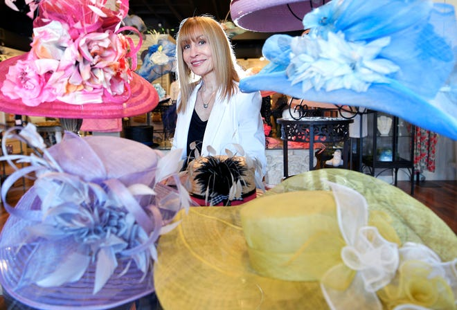 Stacey Rhodes has been selling hats for the Iroquois Steeplechase and the Kentucky Derby for 17 years at her Brentwood boutique store. Stacey Rhodes Boutique has a large selection of hats in all styles, including fascinators, top hats, fedoras, headbands and sun hats.