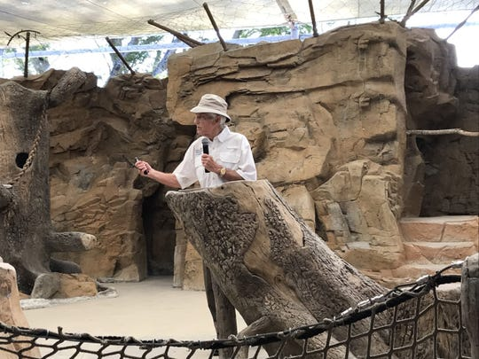 Jack Wert, Collier County's tourism director, talks at the Naples Zoo at Caribbean Gardens on May 7, 2019. During his annual presentation for National Travel and Tourism Week, Wert discussed many of the attractions that brings millions of dollars to Collier County.