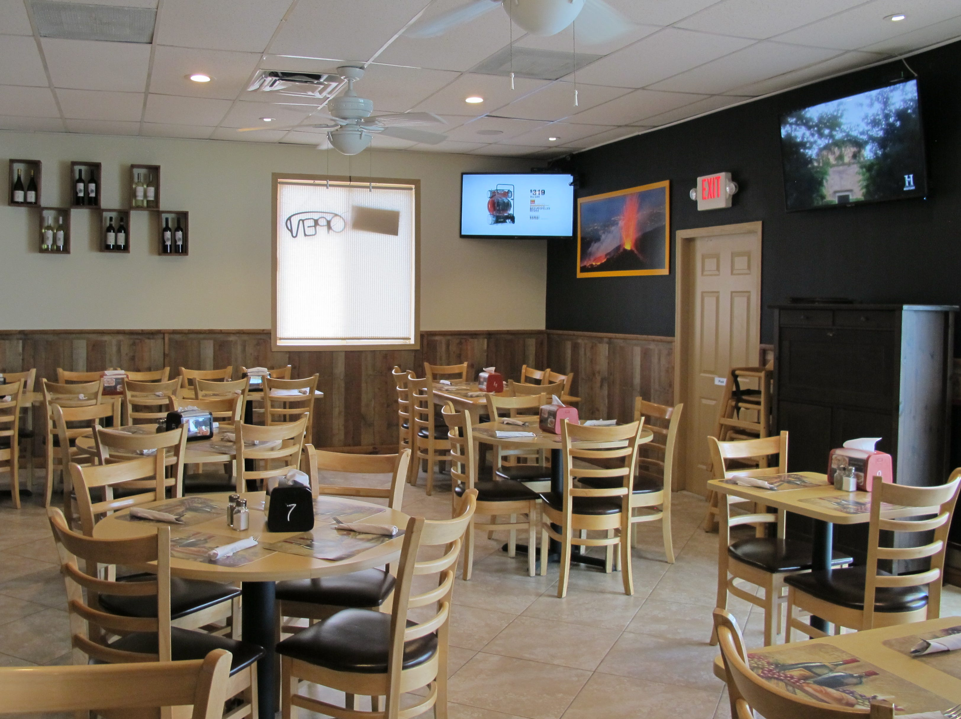 The dining room of the new Sicilia restaurant on Bayshore Drive in East Naples.