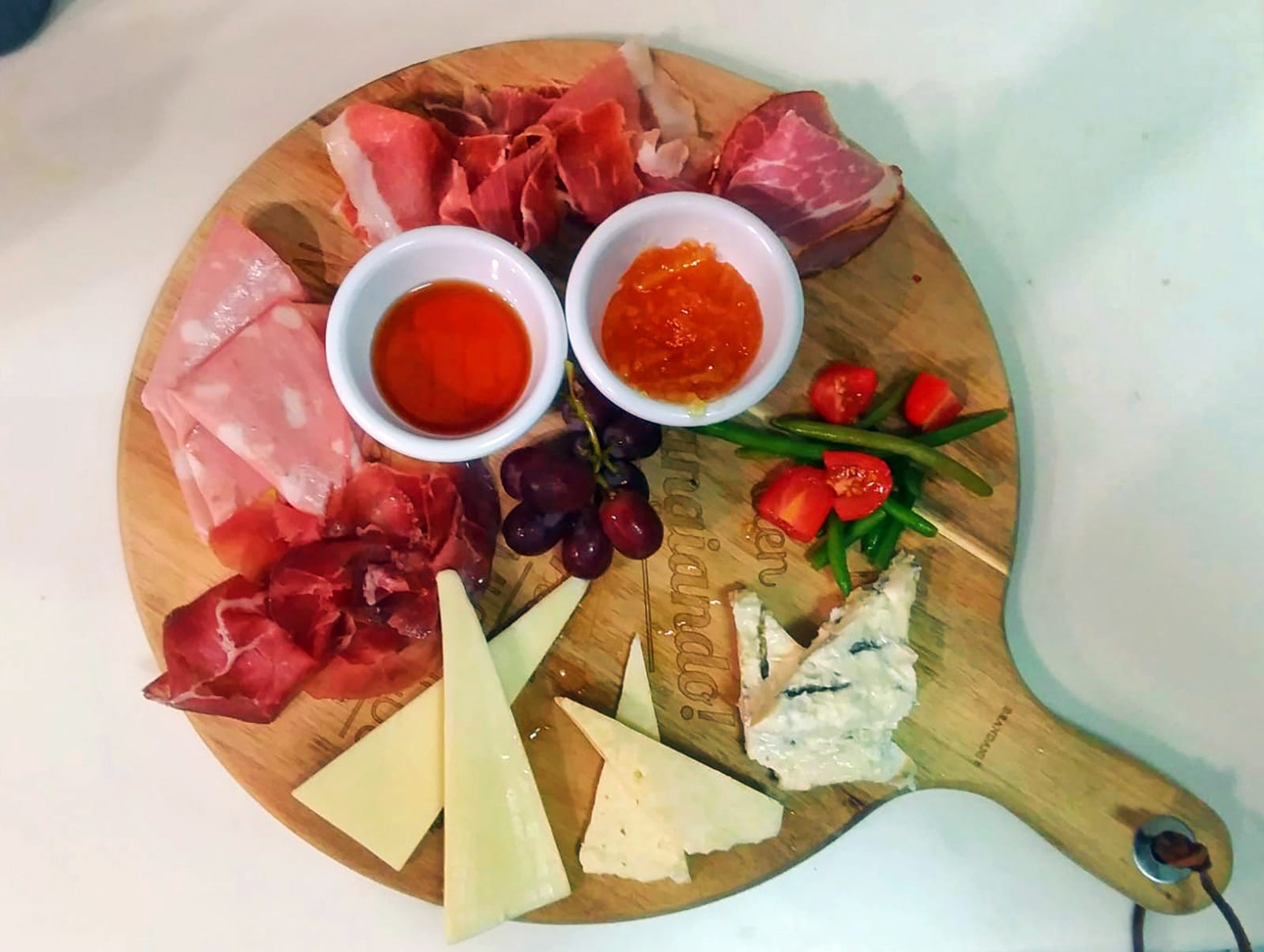 A charcuterie platter with Italian cold cuts and cheese at the new Sicilia on Bayshore Drive in East Naples.